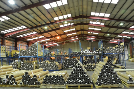 Part of Soyang Europe's impressive warehousing facility