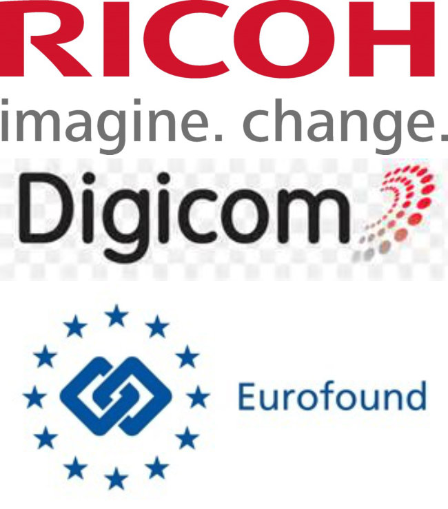 Ricoh, Digicom and Eurofound logos
