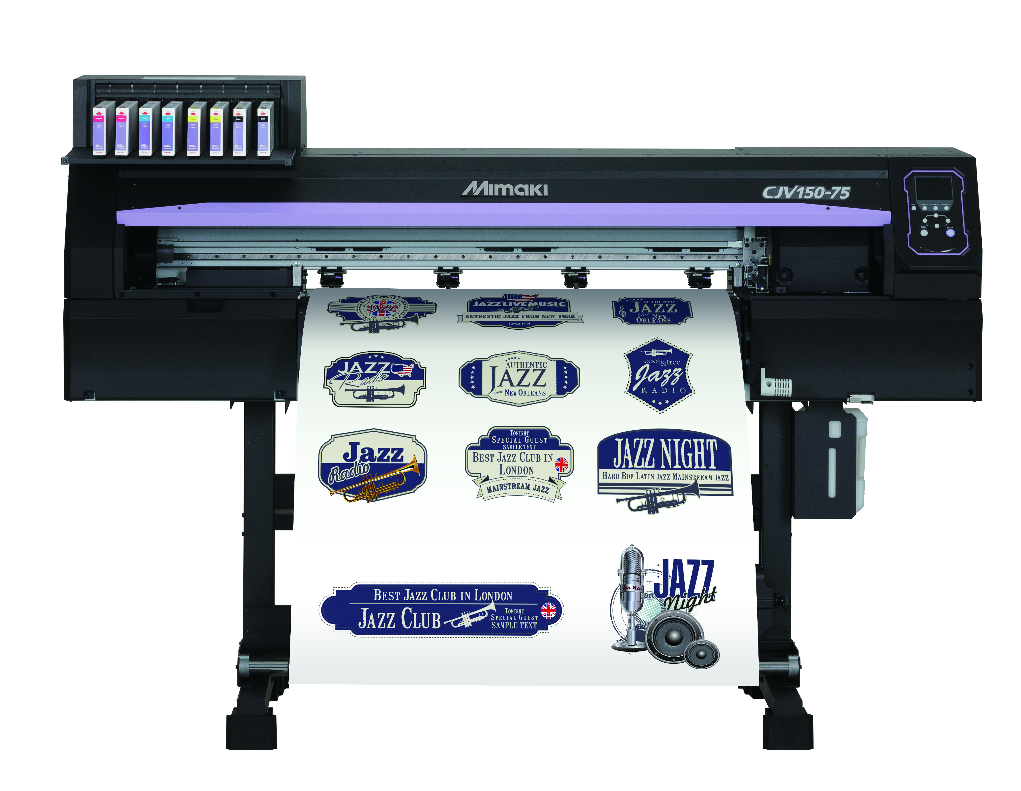 Capable of printing metallic and white ink the CJV150-75 is a productive and creative printer/cutter