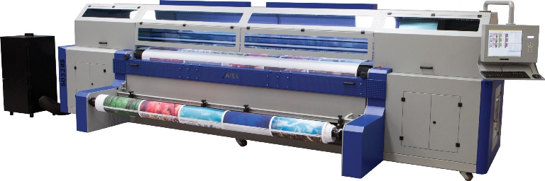 The MTEX5032HS, with newly launched pigment ink suitable for home textiles such as bedding
