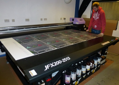 Print On's Matt Peters with the Mimaki JFX200-2513