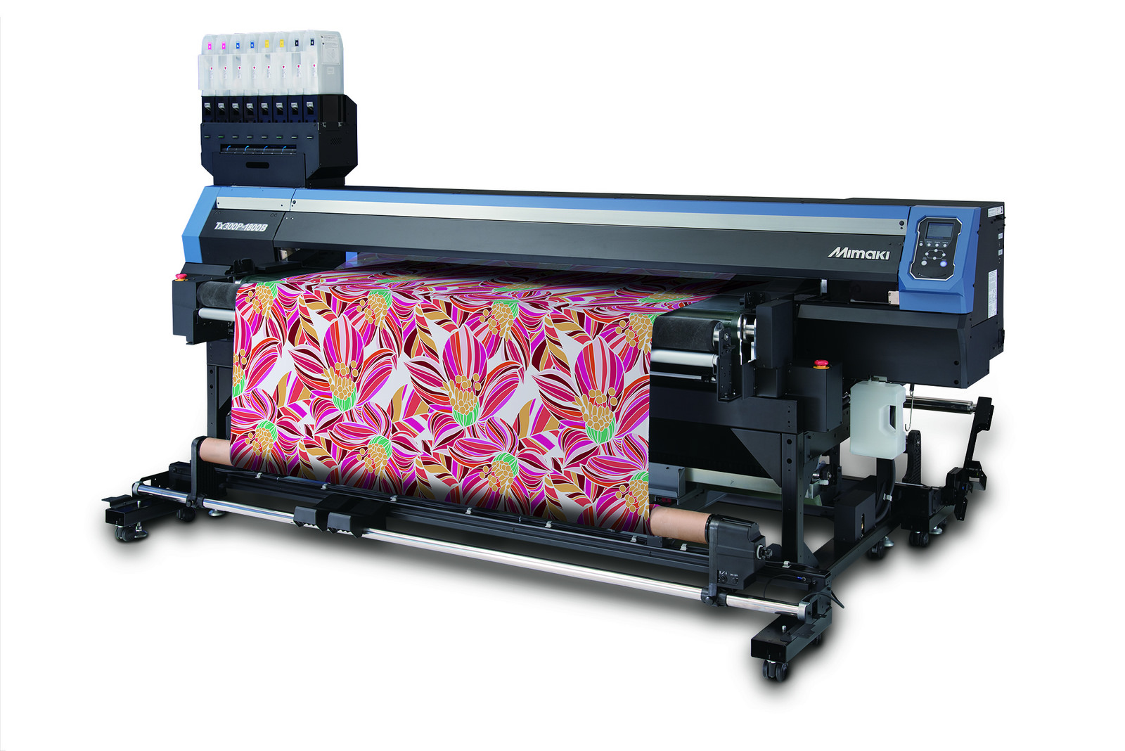 Mimaki's new Tx300P-1800B features a fabric transportation belt to aid feeding material during the print process.
