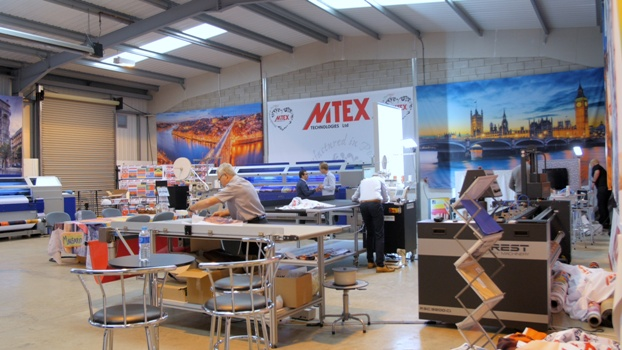 Customers had the chance to talk to the MTEX team about textile printing and soft signage at their open day event
