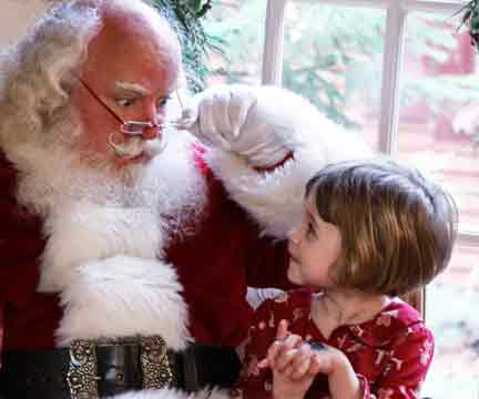 Santa Clause and Child