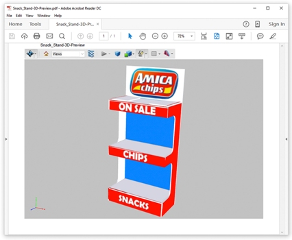 Using the animated 3D folding preview, users can maintain workflow efficiency by catching any mistakes before production
