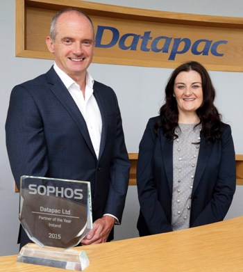 R - L Karen O'Connor, general manager service delivery, Datapac with Dermot Hayden, country manager, Sophos Ireland