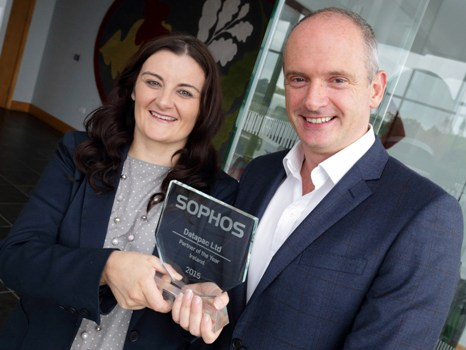 Karen O'Connor, General Manager service delivery, Datapac with Dermot Hayden, country manager, Sophos Ireland