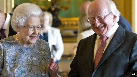 President Michael D Higgins and Queen Elizabeth II