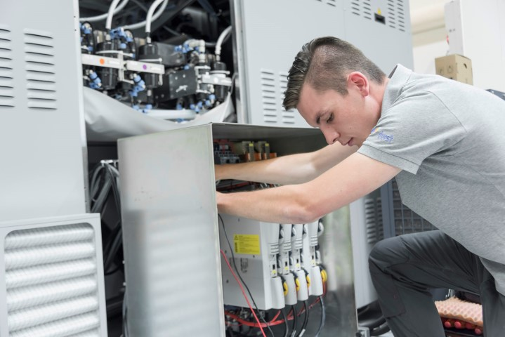 Customer support: Durst's own engineers are equipped for 24x7 operations.