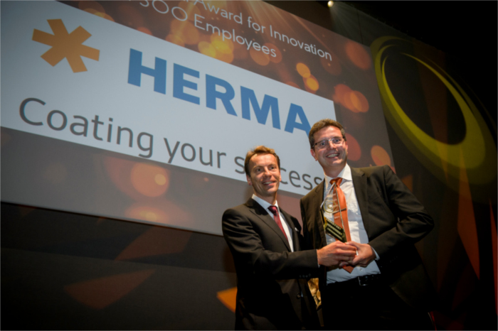 innovation category (more than 300 employees) winner - HERMA