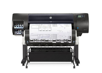 The HP Designjet T7200 Production Printer can produce both colour and black-and-white prints on a wide range of media