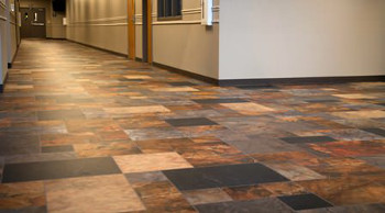 Soyang Europe's G-Floor can marry printed natural effects with low noise and high wear resistance