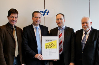 Marc Verbiest (left), Georg Hollenbach, Bernhard Niemela and Kurt K. Wolf with the International Print Technology Award 2012-2013.