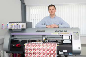 Stika.co's Alex Smith and the company's Mimaki CJV30-60